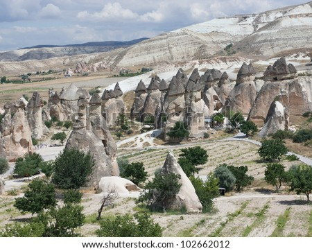 Zelve open air museum at Cappadocia, turkey