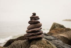 Zen Background Nature Beach Stone Zen Stones