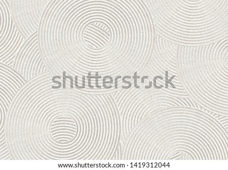 Zen circle pattern in sand Stock fotó ©