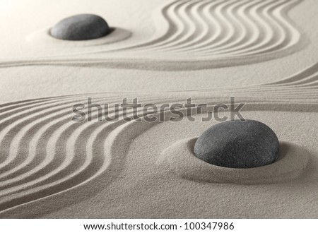 zen garden japanese culture symbol for purity relaxation and concentration spiritual symbol now also used in spa treatment