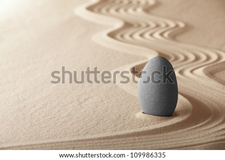 zen garden simplicity and harmony form a background for meditation and relaxation, for balance and health