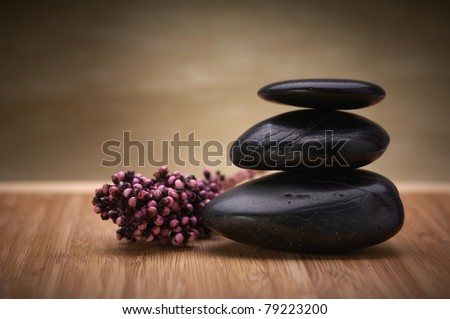 zen, hot massage stone