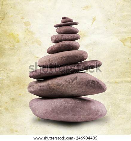 Zen like balanced stone tower.