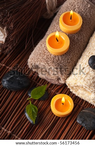 Zen like SPA with candles background