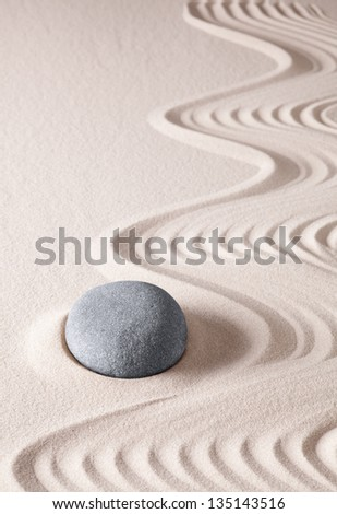 zen meditation stone buddhism spiritual japanese rock garden abstract harmony and balance concept for purity concentration  spa relaxation sand