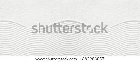 Zen pattern in white sand Stock fotó ©
