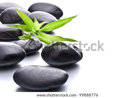 Zen pebbles. Stone spa and healthcare concept. - stock photo