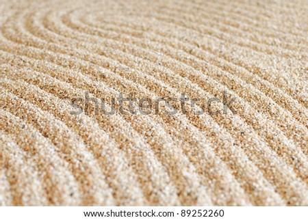 Zen sand pattern - stock photo