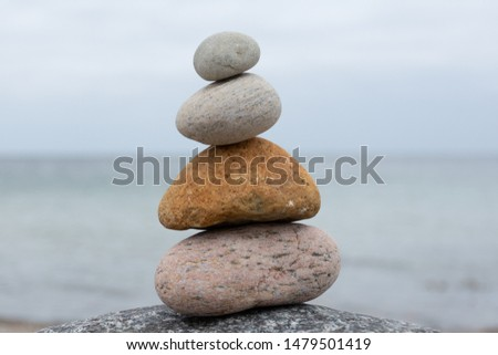 zen sculpture, symbol of balance, Harmony and meditation