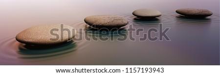 Zen Stones in Water #1157193943