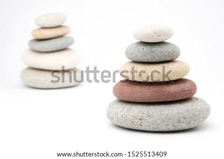 zen stones with white background