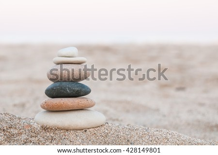 Zen Stones / Zen stone on beach for perfect meditation