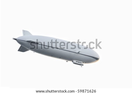 Zeppelin airship - isolated on white