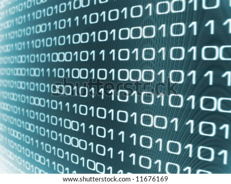 stock photo : Zeros and Ones - binary code background.