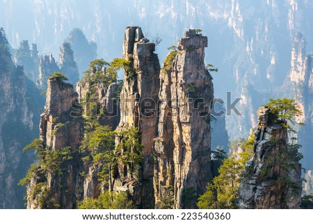 zhangjiajie national forest...