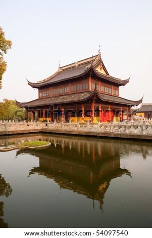 Zhouzhuang, Shanghai water village in China - stock photo