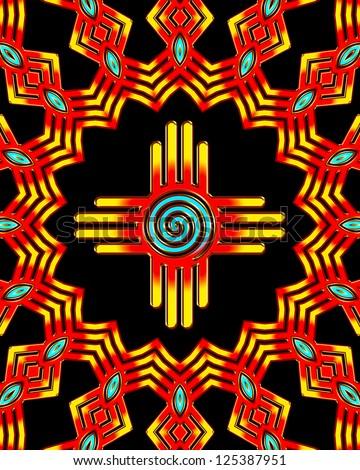 Zia Sun - Spiral / ZIA SUN / Zia Pueblo - New Mexico