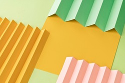 Zig Zag fold paper texture background, Colorful Zigzag paper pattern paper background