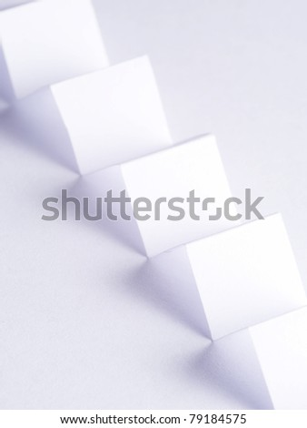 zig zag paper with shadows