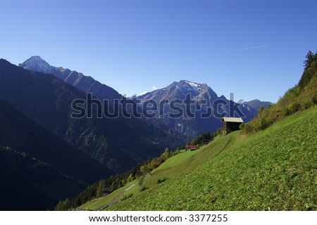 Zillergrund in Tirol with Dristner and Grinberg in the background