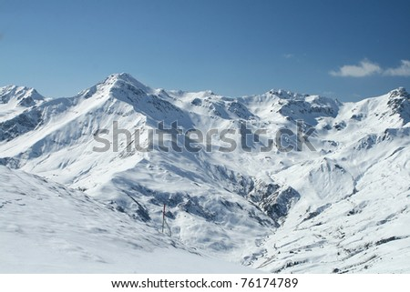 Zillertal Hintertuxer Glacier - stock photo