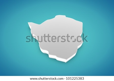 Zimbabwe Map - stock photo