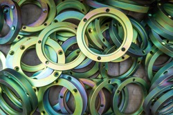 zinc chromated yellow protective coating stamped steel parts