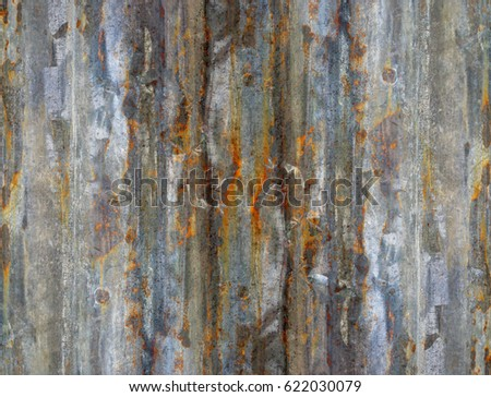 zinc sheets mixed for textured background in colorful abstract #622030079
