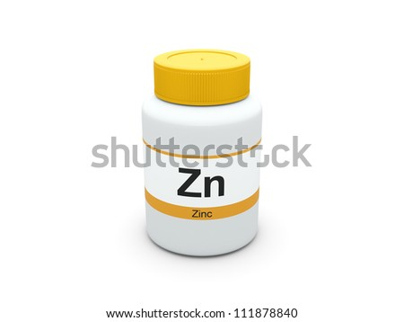 Zinc supplements bottle - stock photo