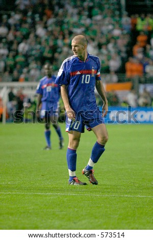Zinedine Zidane France and Real Madrid Ireland V France World Cup Qualifier Lansdowne Road Dublin 7 September 2005 France won the game 1-0.