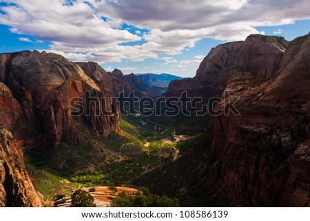 Zion National Park in Utah , USA