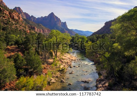 Zion National Park is located in the Southwestern United States, near Springdale, Utah