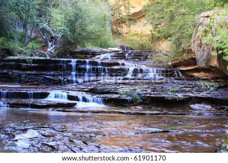 Zion subway waterfalls