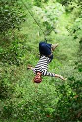 zipline zip adventure adrenaline line rush canopy woman wire slide rainforest travel adult woman on zipline ecuadorian andes zipline zip adventure adrenaline line rush canopy woman wire slide rainfore