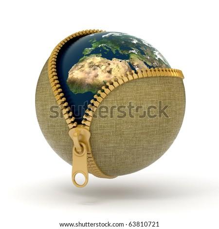 Zipped earth