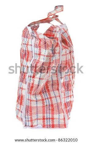 Zipper Bag on White Background
