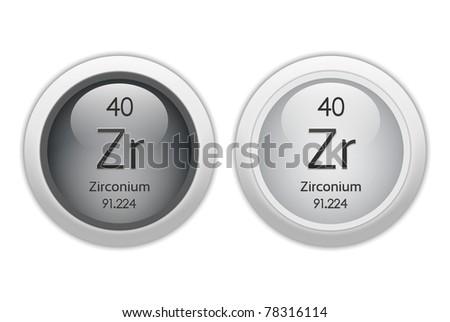 zirconium atom model