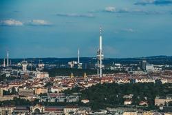 Zizkov Television Tower in Prague - Czech Republic