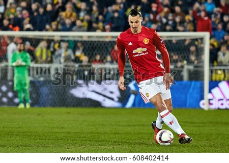 "Zlatan Ibrahimovic (Feyenoord) in match 1/8 finals of the Europa League between FC ""Rostov"" and ""Manchester United"", 09 March 2017 in Rostov-on-Don, Russia."