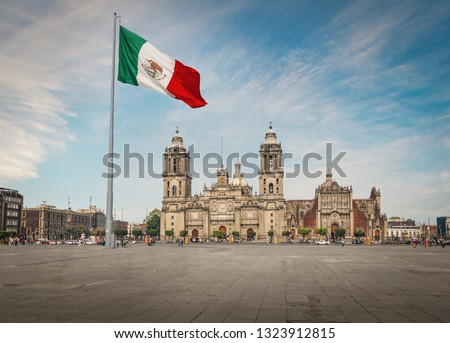 Zocalo Square and Mexico City Cathedral - Mexico City, Mexico #1323912815