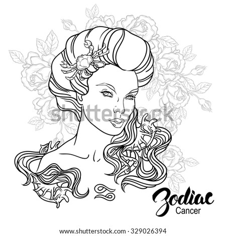 c3f46de3c Royalty-free Zodiac. Illustration of Leo as girl…  329026409 Stock ...