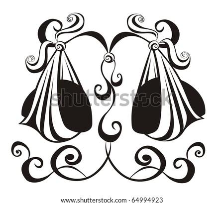 zodiac Libra. Astrology sign.