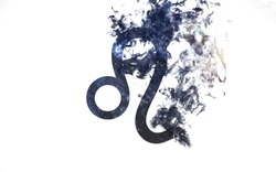 Zodiac sign - Leo. Dust of the universe, minimalistic art. Elements of this image furnished by NASA