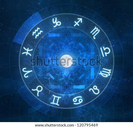 Zodiac Signs - New age horoscope with stars and arcane elements