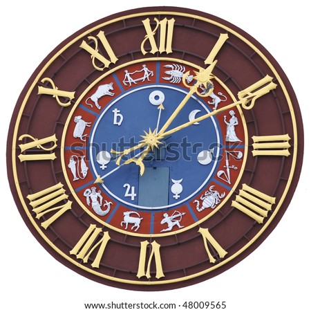Zodiacal clock (isolated)