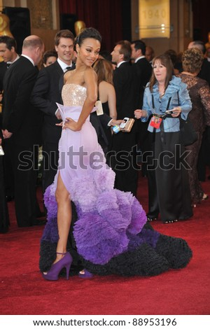 Zoe Saldana  at the 82nd Annual Academy Awards at the Kodak Theatre, Hollywood. March 7, 2010  Los Angeles, CA Picture: Paul Smith / Featureflash