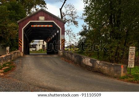 Zook's Mill Covered Bridge - autumn