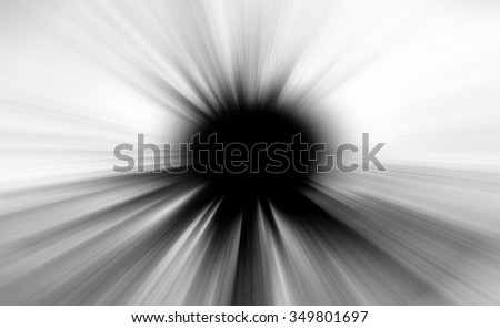 Zoom effect background with black hole or circle.