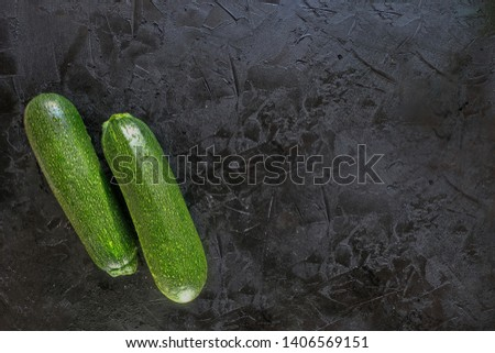 Zucchini is the best ingredient for vegan, Keto, paleo diets. The concept of healthy, proper nutrition,. Diet, detox, cleansing #1406569151