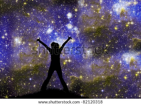 Zvezdachet and  night sky